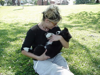 Young woman and Pup
